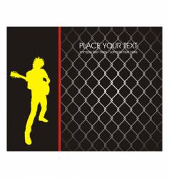 grunge rock poster vector image vector image
