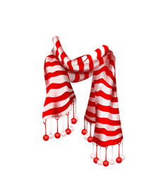 red striped santa claus scarf christmas accessory vector image vector image