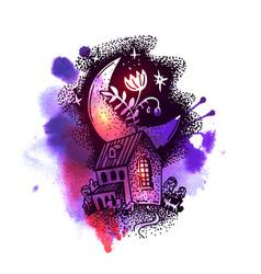 tattoo element sketch vector image vector image