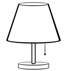 Bed lamp vector image