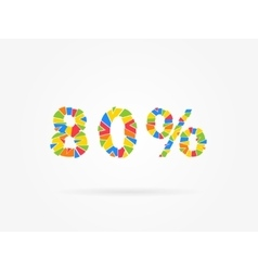 Discount 80 percent vector image vector image