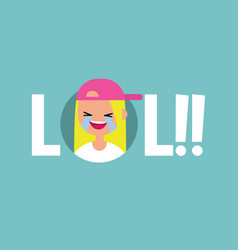 lol conceptual sign laughing out loud teenage vector image vector image