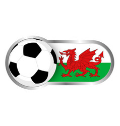 wales soccer icon vector image vector image