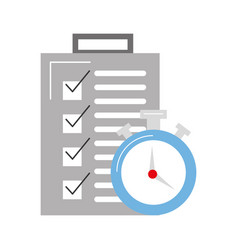 checklist order delivery service with chronometer vector image vector image