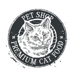 head cat sketch vector image vector image