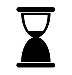 Hourglass the black color icon vector