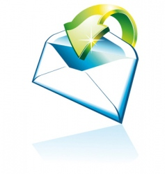 3d email icon vector image