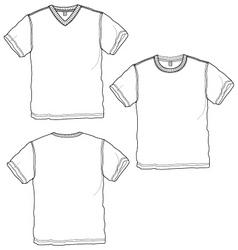 basic tshirt vector image vector image