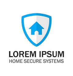 Blue Shield Home Security vector image
