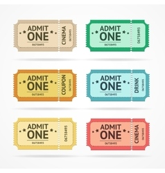 color tickets set vector image
