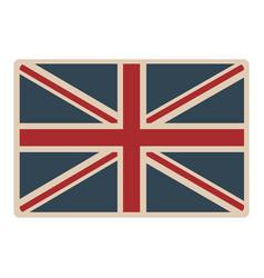Flag united kingdom classic british opaque icon vector