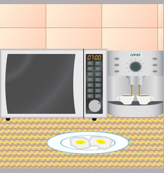kitchen interior in the early morning vector image vector image