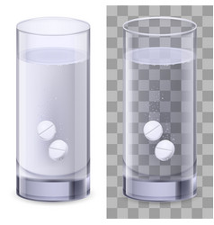 real glass and pills on white for design vector image vector image