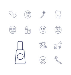 13 mouth icons vector