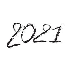 2021 text design black color vector