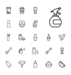 22 bottle icons vector