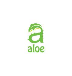 Aloevera letter a logo vector