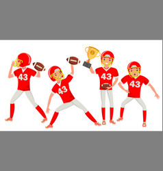 American football man player male vector