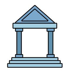 antique greek building vector image