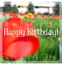 Birthday card with blurry effect vector image