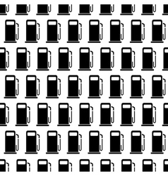 Black and white seamless pattern with gas stations vector image