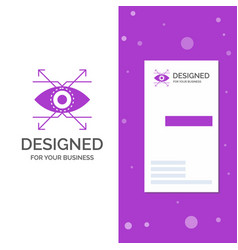 business logo for business eye look vision vector image