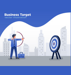 businessman aiming at target shooting arrow vector image