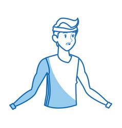 cartoon man wearing clothes sport vector image