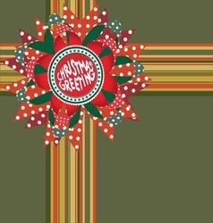Christmas greeting decor vector