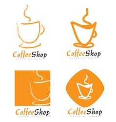 Coffee cup or shop logo vector