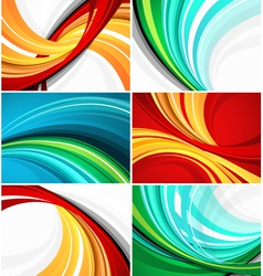 colorful swirl pattern designs vector image