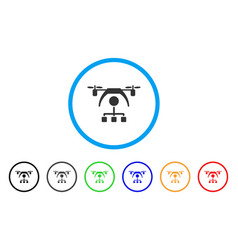 Copter distribution scheme rounded icon vector