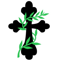 Cross vine vector