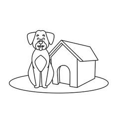 dog house cartoon vector image