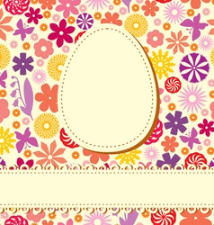 Easter flower background vector