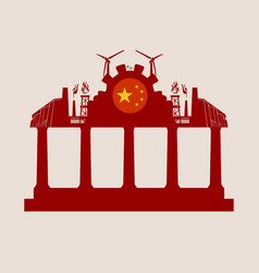 energy and power icons on the temple roof vector image