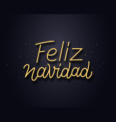 Feliz navidad wishes typography text card vector