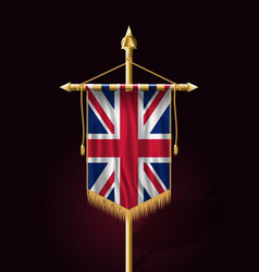 Flag of united kingdom festive vertical banner vector