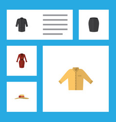 Flat icon garment set of clothes banyan elegant vector