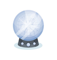 Flat icon of soothsayer s crystal ball vector