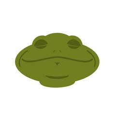 frog sleeping emoji toad avatar asleep amphibious vector image
