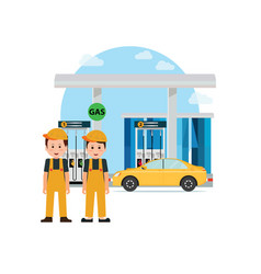 gas petroleum petrol refill station vector image
