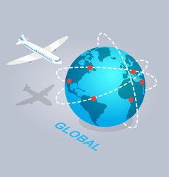 Global spread e commerce isolated vector