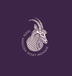 goat logo vector image