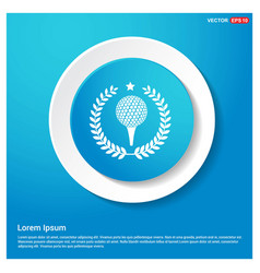 golf champion icon abstract blue web sticker vector image