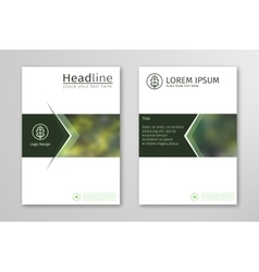 Green annual report business brochure flyer design vector