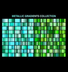 green emerald glossy gradient metal foil texture vector image