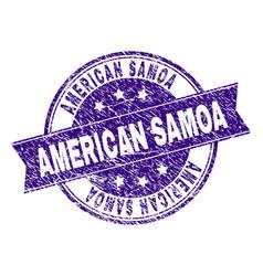 Grunge textured american samoa stamp seal vector