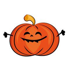 halloween smile pumpkin vector image