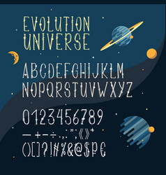 hand drawn font latin alphabet capital vector image